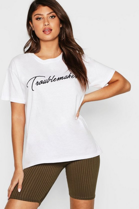 "T-Shirt mit ""Troublemaker""-Motiv"
