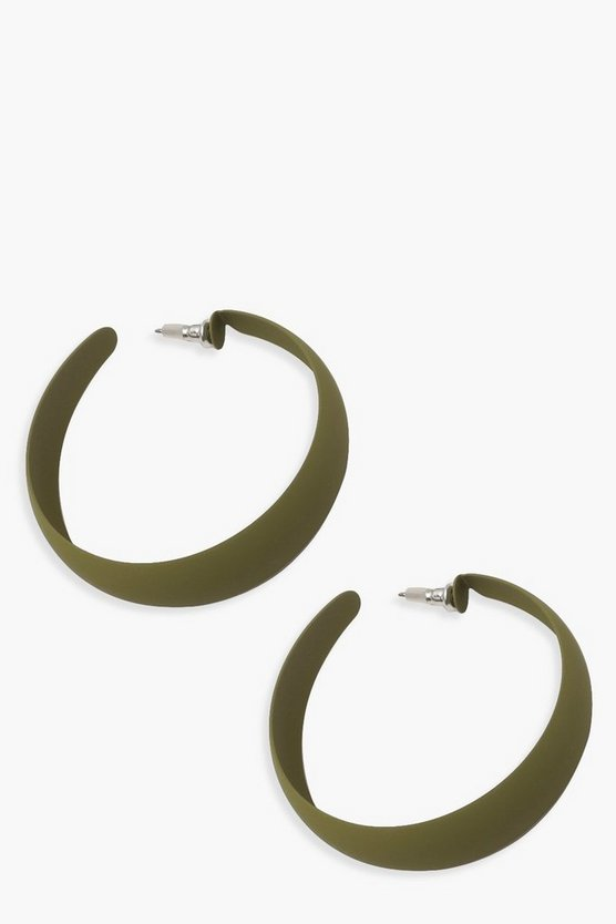 Matte Colour Hoop Earrings
