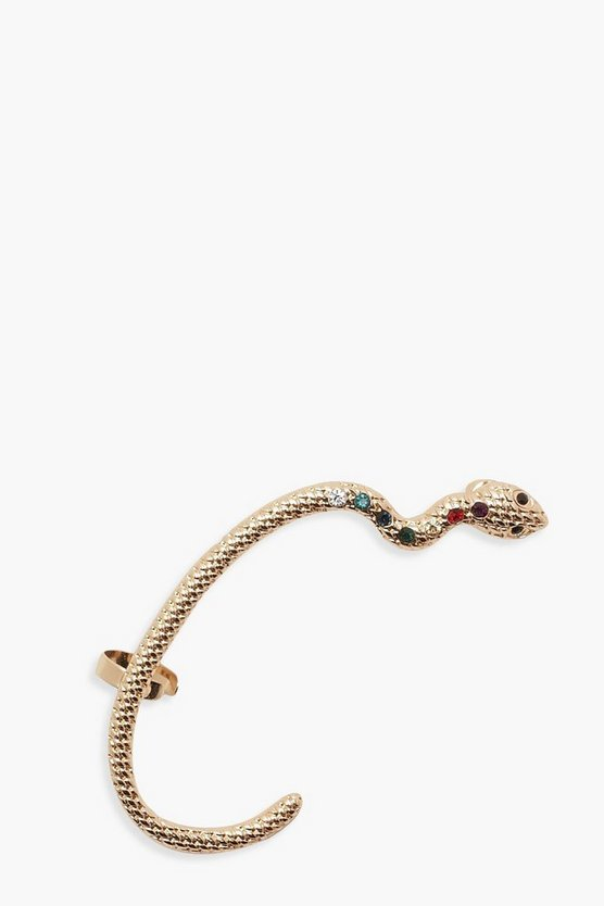Womens Gold Statement Snake Ear Cuff