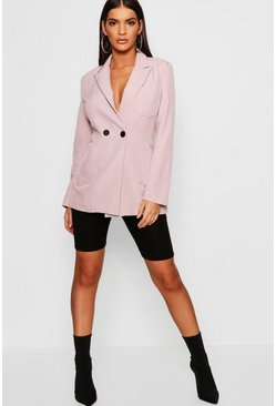 Womens Rose Double Breasted Blazer