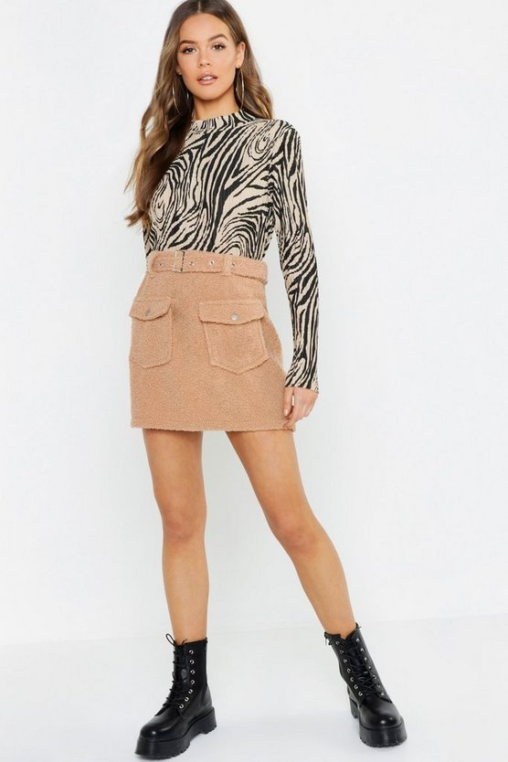 Teddy Belted Mini Skirt