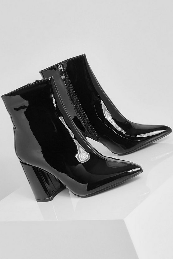 Block Heel Shoe Boots