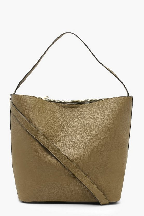 Bucket Day Bag With Cross Body