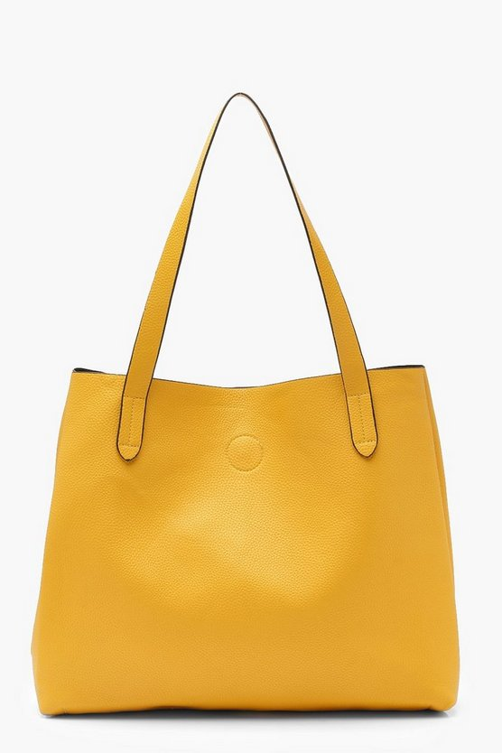 Womens Mustard Slouch Day Bag