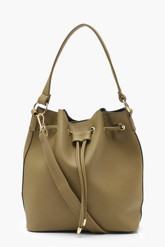Womens Khaki Duffle Day Bag