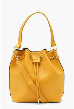 Womens Mustard Duffle Day Bag