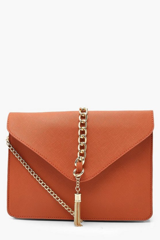 Crosshatch Chain & Tassel Cross Body