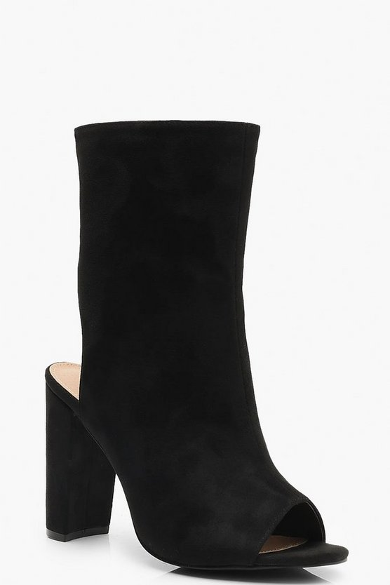 Extra Wide Fit Peeptoe Shoe Boots