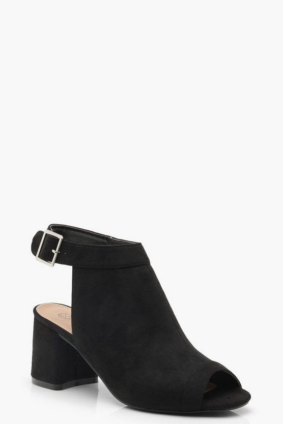 Wide Fit Peeptoe Shoe Boots