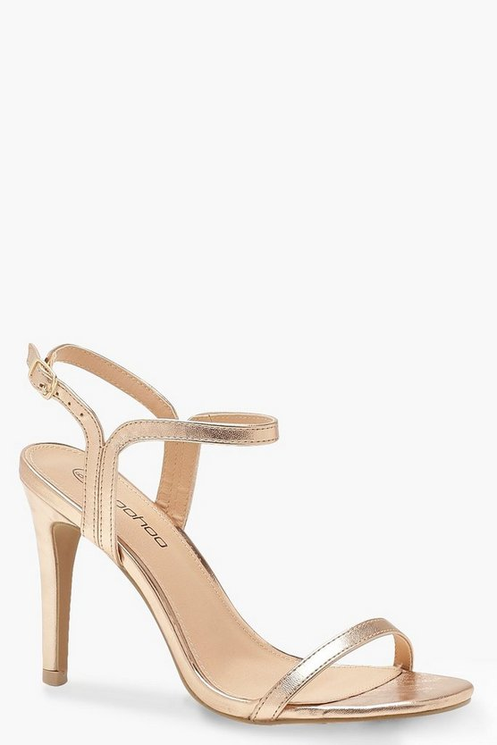 Talons en 2 parties larges, Or rose, Femme