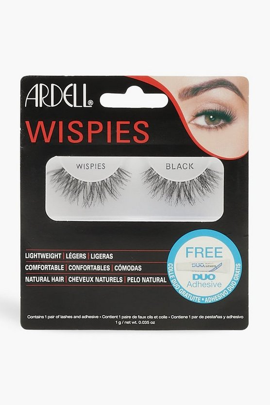Womens Black Ardell Wispies