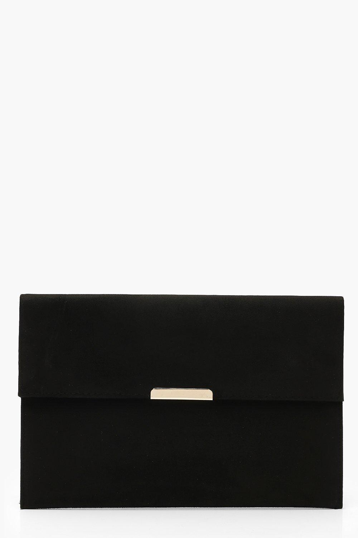 Suedette & Bar Envelope Clutch