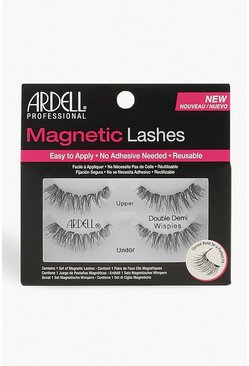 Womens Black Ardell Magnetic Lashes Double Demi Wispies