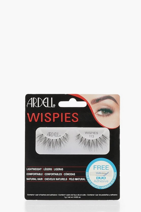 Womens Black Ardell Wispies 113