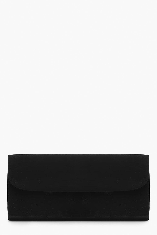 Suedette Envelope Clutch