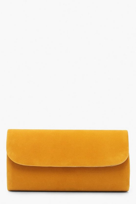 Suedette Envelope Clutch