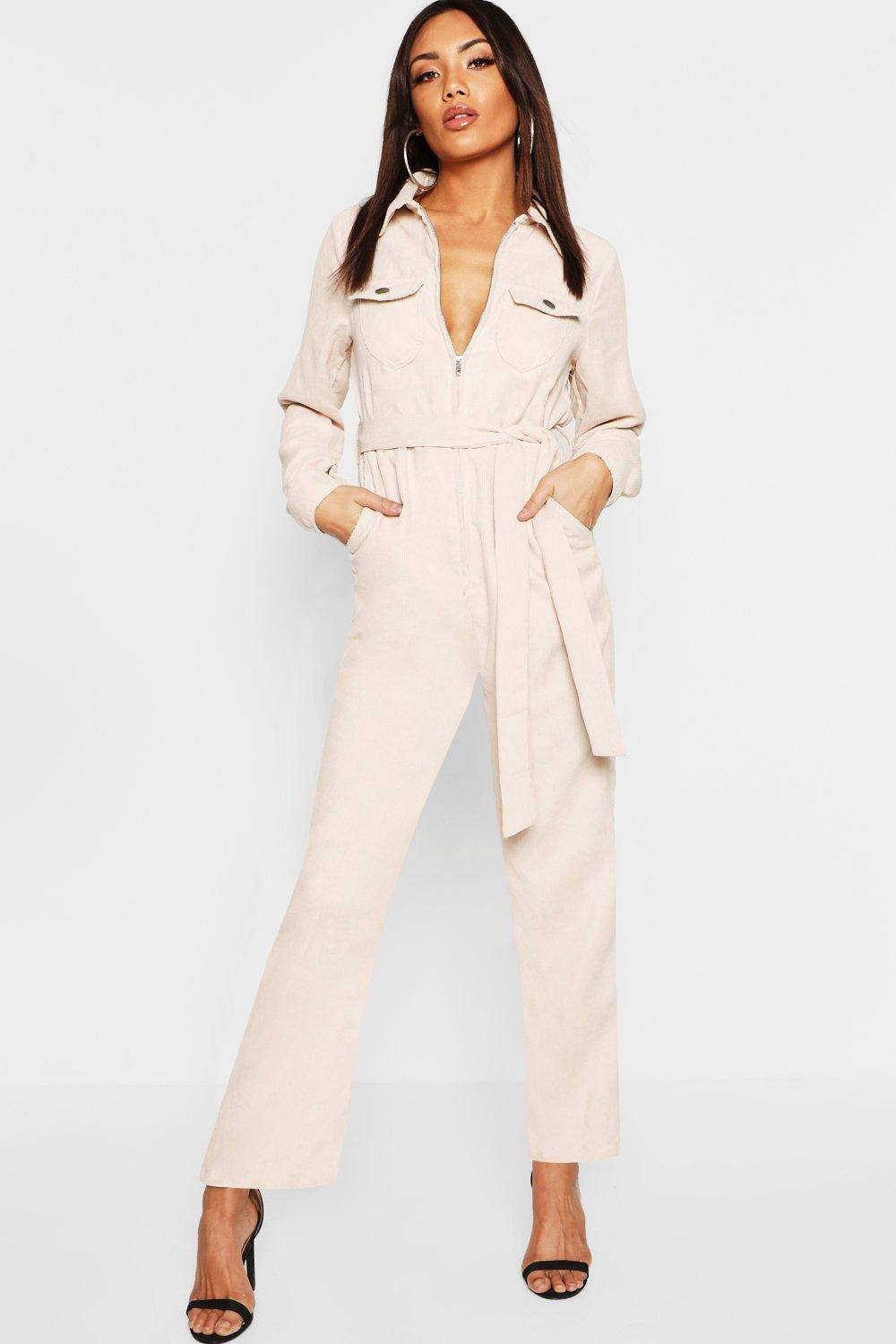 Cord Belted Jumpsuit