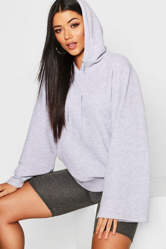 Womens Wide Sleeve Basic Hoody