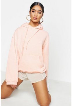 Womens Coral Slouch Fit Basic Hoody