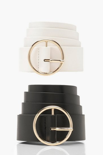Womens Multi 2 PK Circle Ring Belt