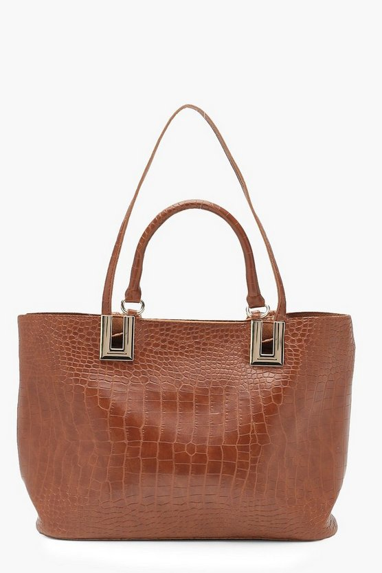 Tasche in All Over Kroko-Optik
