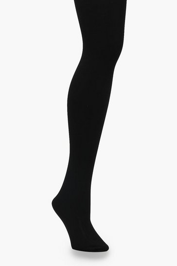 Womens Black 300 Denier Thermal Tights