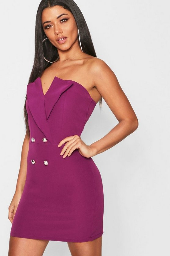 Strapless Blazer Dress