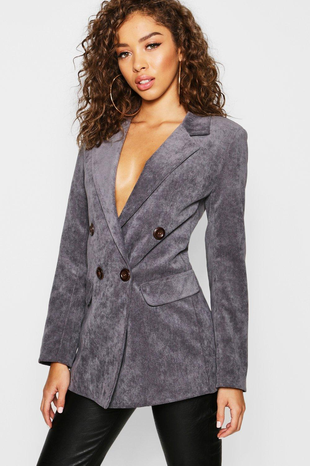 Cord Double Breasted Blazer