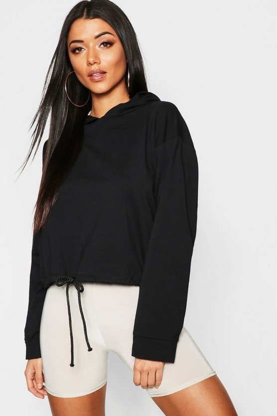 Womens Oversized Drawcord Sweat