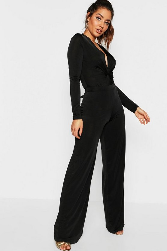 Womens Disco Slinky Wide Leg Trousers