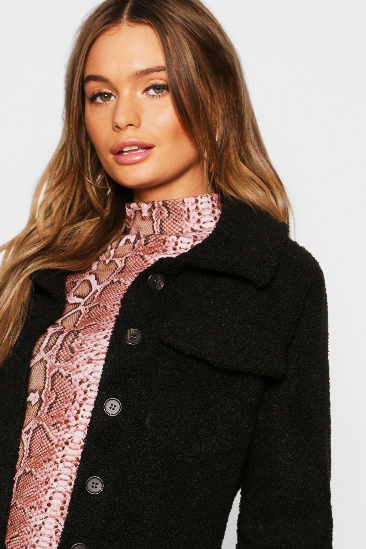 ff2333a7220 Boohoo Womens Teddy Faux Fur Trucker Jacket