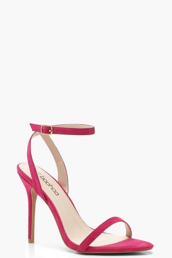 Womens Hot pink Pointed 2 Part Heels