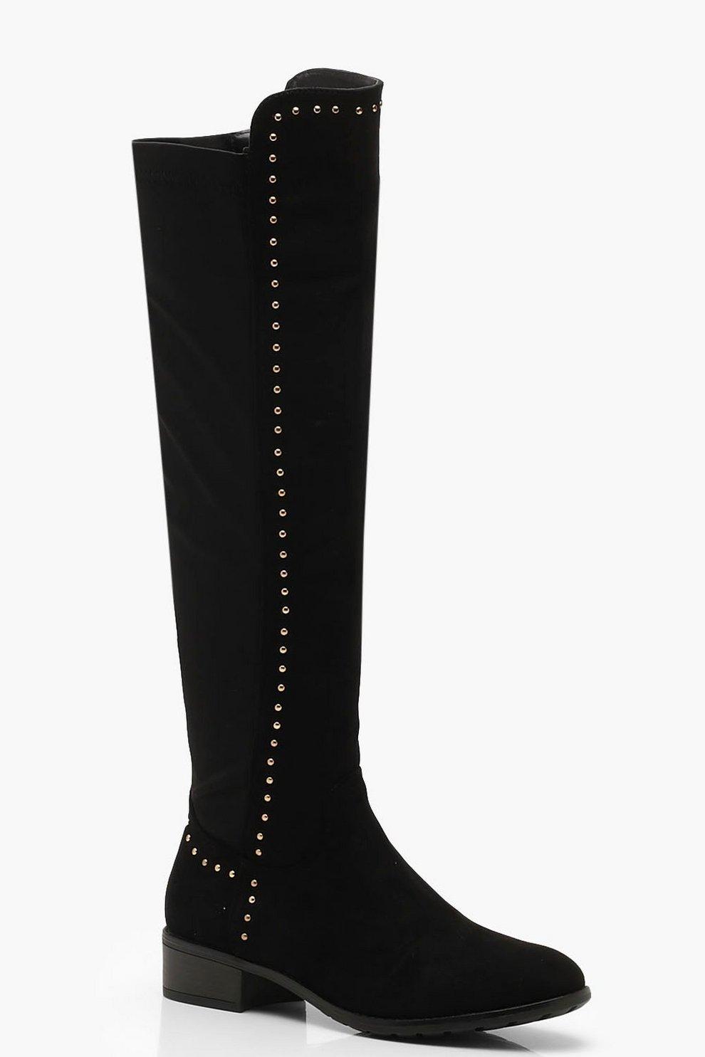 Botas altas con tachuelas | Boohoo