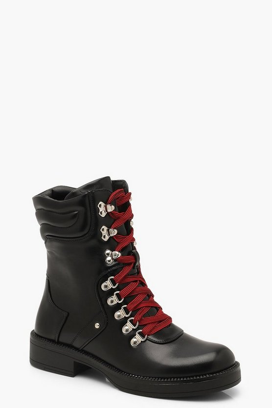 Dual Lace Hiker Boots