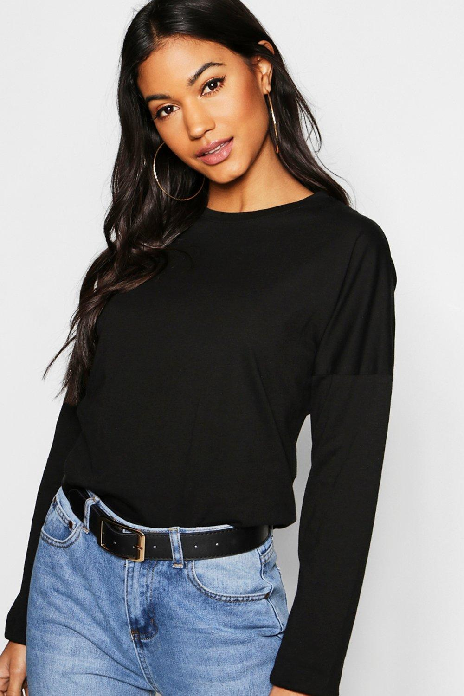 Basic Cotton Drop Shoulder T-Shirt