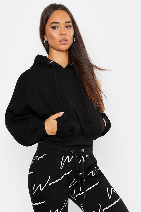 Black Slouch Over Head Hoody