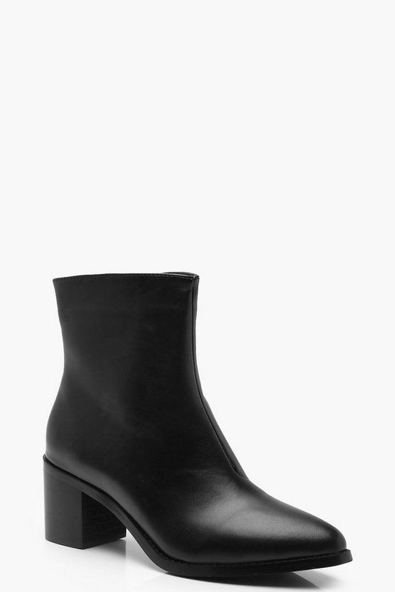 Low Block Heel Chelsea Boots