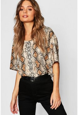 Stone Oversized Snake Short Sleeve T-Shirt