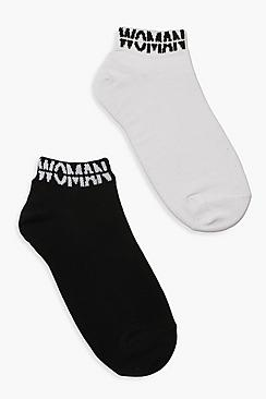 WOMAN Cuff Ankle Socks 2 Pack