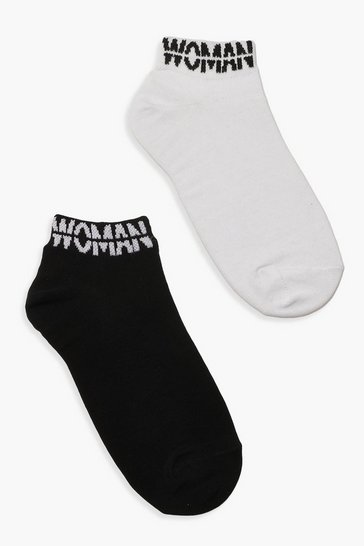 Multi WOMAN Cuff Ankle Socks 2 Pack