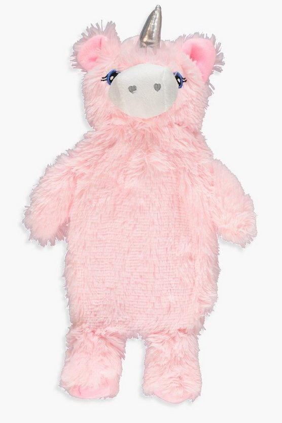 Fluffy Unicorn Hot Water Bottle