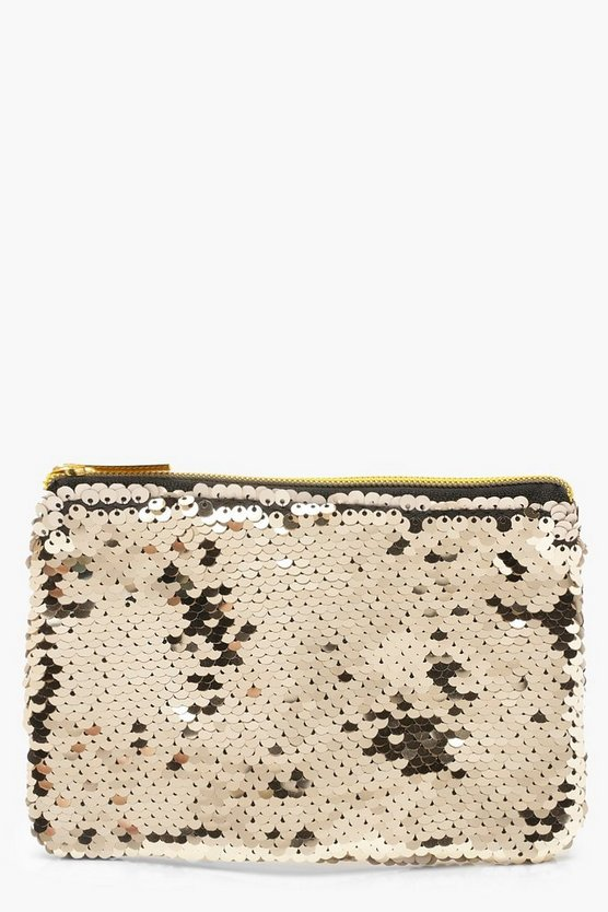 Sequin Purse, Champagne, Женские