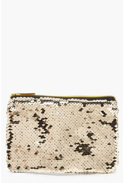 Womens Champagne Sequin Purse