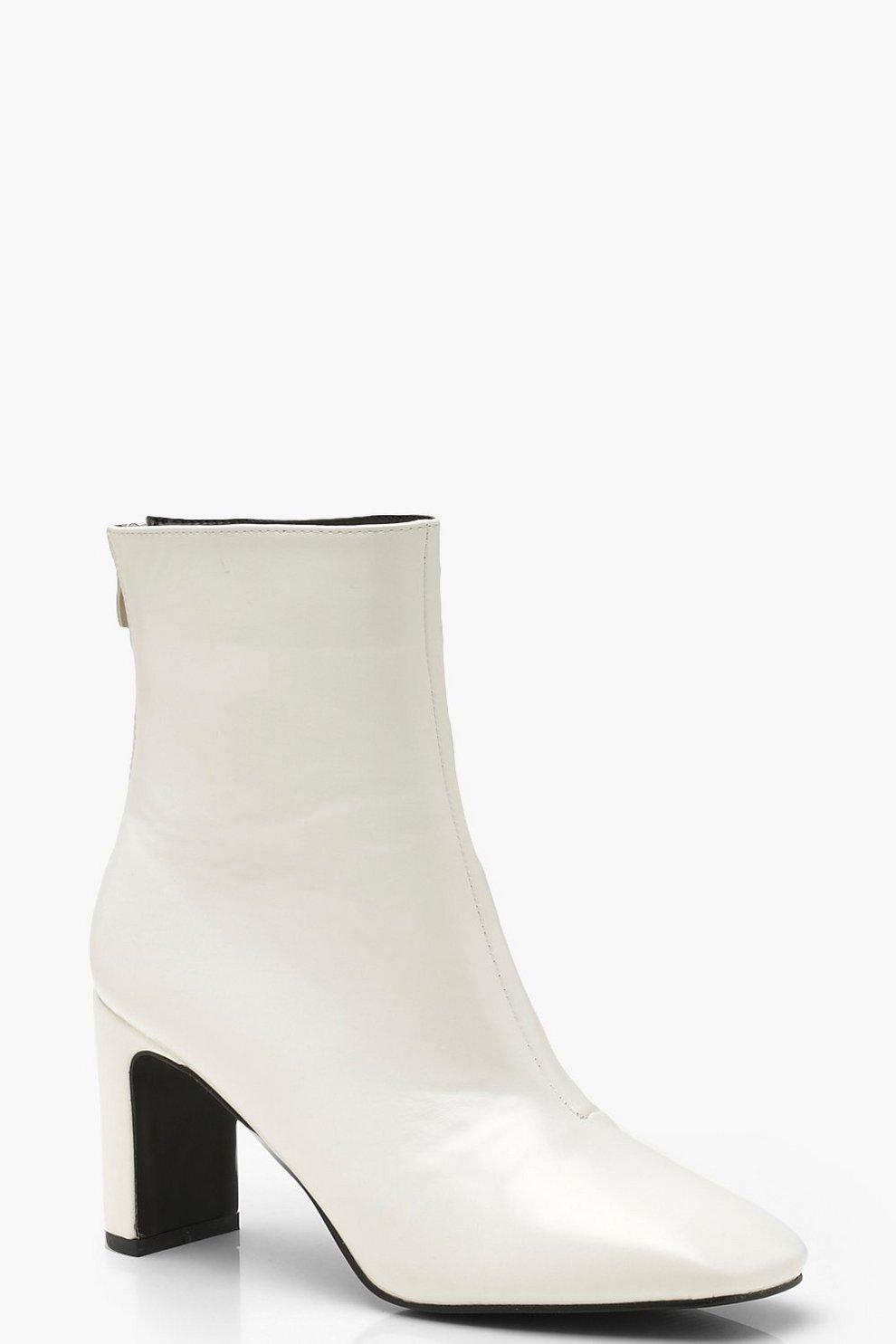 b005ec6e2a6a Womens White Low Heel Ankle Shoe Boots. Hover to zoom