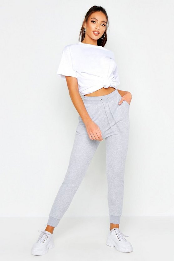Womens Grey marl Basic Jogger