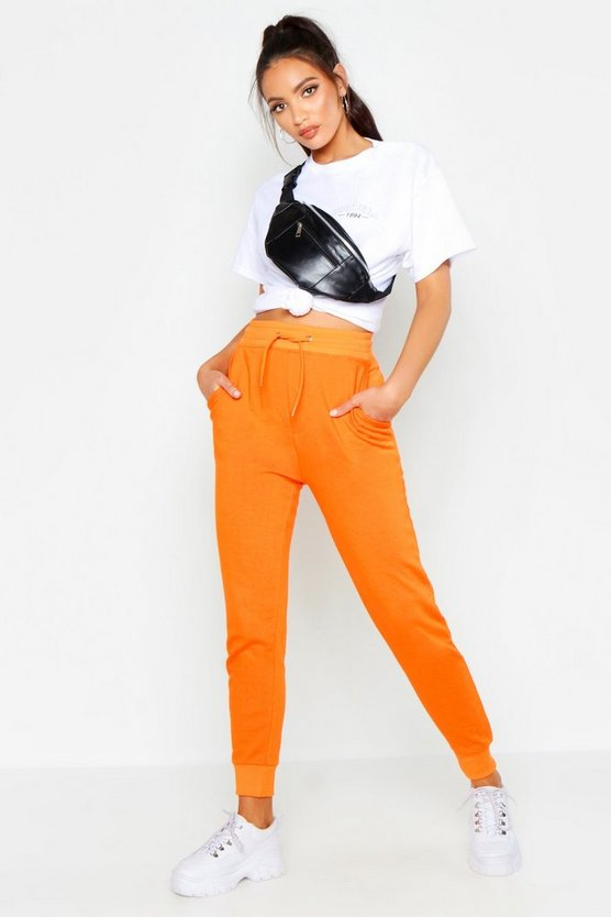 Womens Orange Basic Jogger