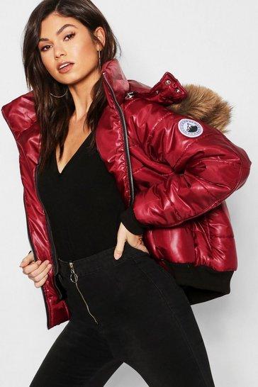 Puffer Jackets Womens Padded Jackets Bubble Coats Boohoo Uk