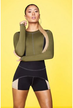 Womens Green Fit Premium Double Layer Top