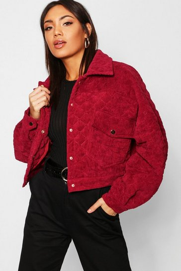 Womens Quilted Trucker Jacket