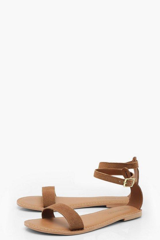 2 Part Suede Sandals